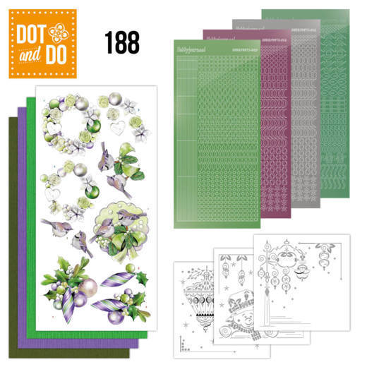 Dot and Do 188 - Jeanine's Art - Purple Christmas Baubles - Christmas