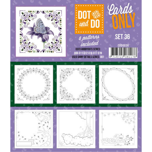Hobbydots - Dot & Do - Cards Only - Oplegkaarten - Set 36