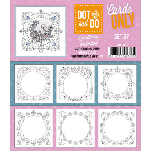 Hobbydots - Dot & Do - Cards Only - Oplegkaarten - Set 37