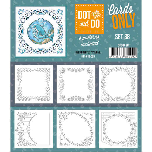 Hobbydots - Dot & Do - Cards Only - Oplegkaarten - Set 38