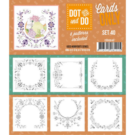 Hobbydots - Dot & Do - Cards Only - Oplegkaarten - Set 40