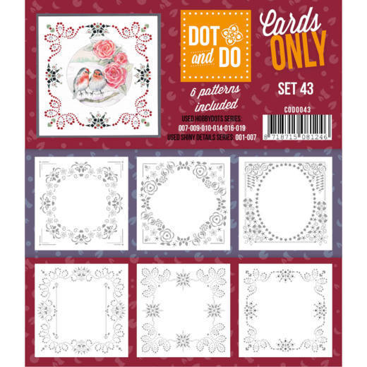 Hobbydots - Dot & Do - Cards Only - Oplegkaarten - Set 43