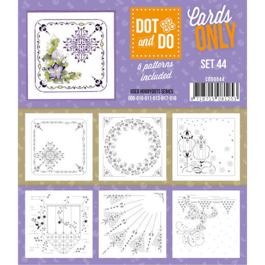 Hobbydots - Dot & Do - Cards Only - Oplegkaarten - Set 44