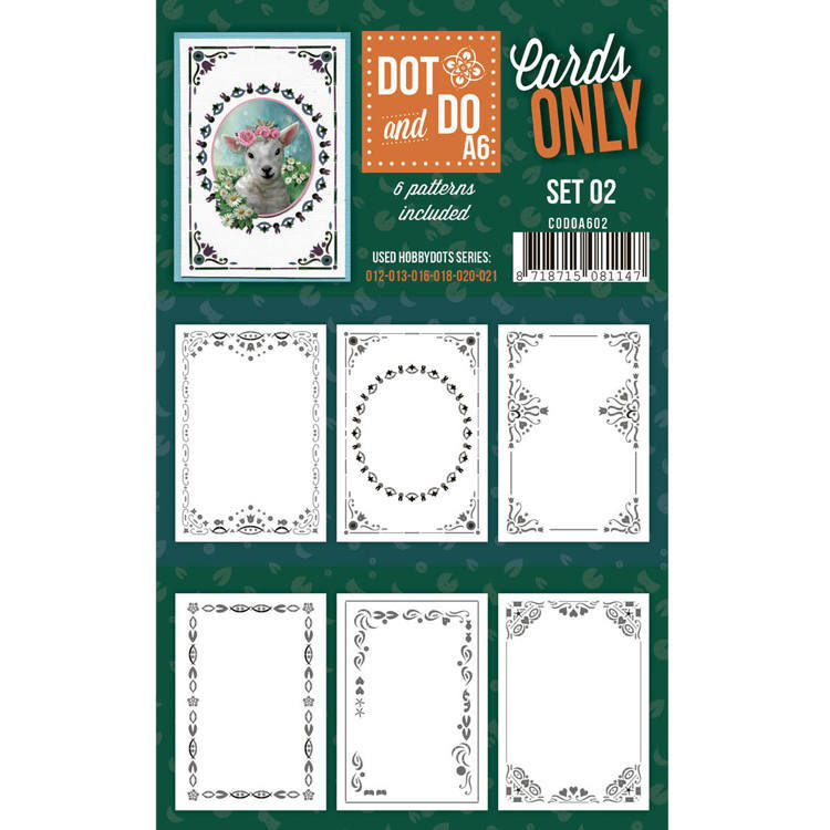 Hobbydots - Dot & Do - Cards Only - Oplegkaarten A6- Set 2