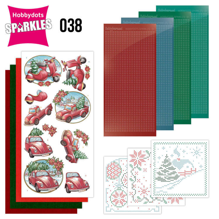 Sparkles Set 38 - Christmas Transportation - Yvonne Creations - SPDO038