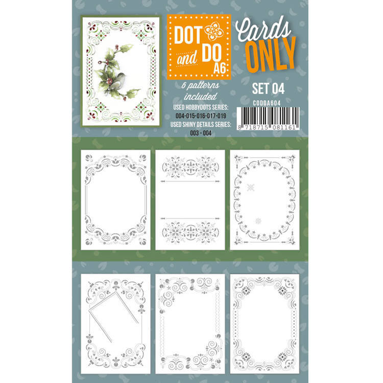 Hobbydots - Dot & Do - Cards Only - Oplegkaarten A6 - Set 4