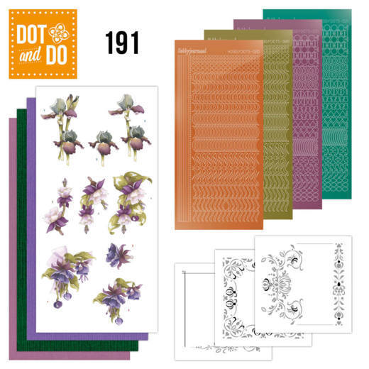 Dot and Do 191 - Precious Marieke - Pretty Flowers - Purple Flowers - Dodo191