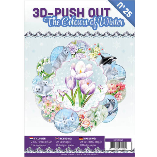 3D Push Out Book The Colours of Winter - 3DPO10025