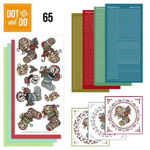 Hobbydots - Dot en Do Set 65 - Yvonne Creations - Kerstkousen - Dodo-065
