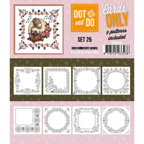 Hobbydots - Dot & Do - Cards Only - Oplegkaarten - Set 26